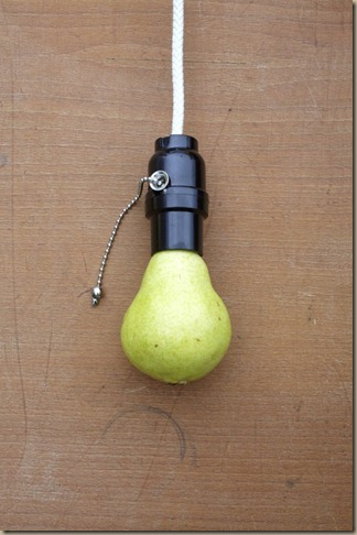 pear in socket