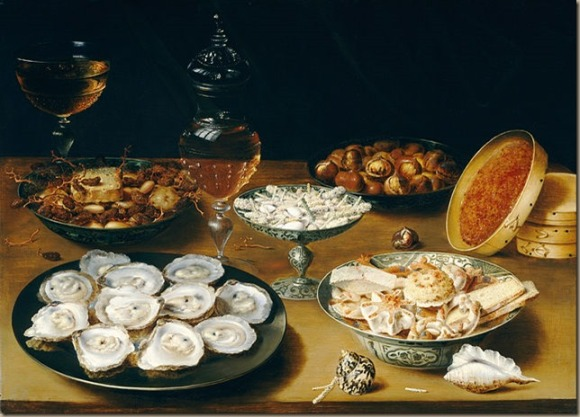 Osias_Beert_the_Elder_-_Dishes_with_Oysters,_Fruit,_and_Wine_-_Google_Art_Project