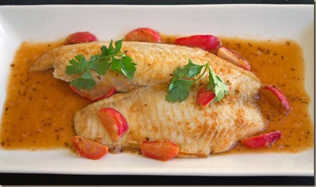 Fish-w-radish-sauce