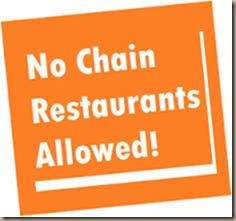 no chains allowed