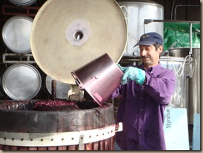 winemaker at work