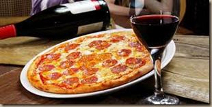 pizza wine