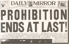 prohibition ends