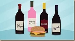 wine with burgers