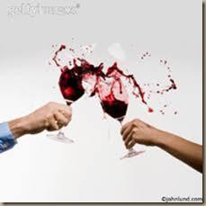 wine glasses breaking