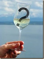 wine with question mark