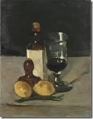 cezzane still life with wine