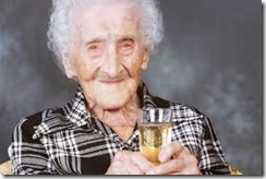 old person drinking wine