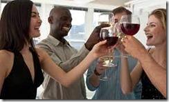people drinking wine 2