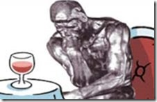 thinker with wine