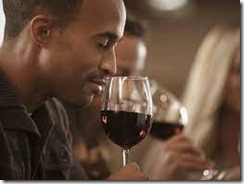 smelling a wine