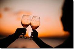 savoring wine